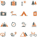 Travel and tourism icon set  for design. Royalty Free Stock Images