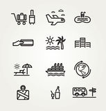 Travel and tourism icon set. Royalty Free Stock Photo