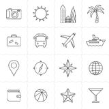 Travel and tourism icon set Royalty Free Stock Photos