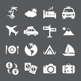 Travel and tourism icon set, vector eps10 Royalty Free Stock Photos