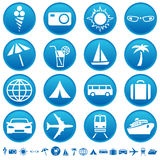 Travel & tourism icons Royalty Free Illustration