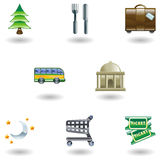 Travel and Tourism Icons Stock Images