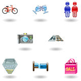 Travel and Tourism Icons Royalty Free Stock Photos