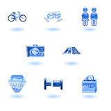 Travel and Tourism Icons Royalty Free Stock Image