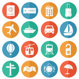 Travel and tourism icons - flat vector Royalty Free Stock Photography
