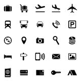 Travel and tourism icons Stock Photos