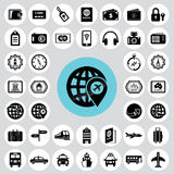 Travel and tourism icons set. Stock Photo