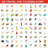 100 travel and tourism icons set, isometric style. 100 travel and tourism icons set in isometric 3d style for any design illustration vector illustration