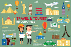 Travel and tourism infographic elements. Stock Photo