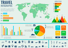 Travel and Tourism. Infographic set with charts and other elements. Vector Stock Photo