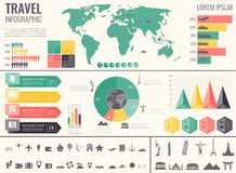 Travel and Tourism. Infographic set with charts and other elements.  Royalty Free Stock Image