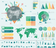Travel and Tourism. Infographic set with charts and other elements. Vector. Illustration Royalty Free Stock Photo