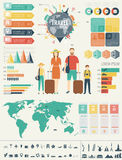 Travel and Tourism. Infographic set with charts and other elements. Vector. Illustration Royalty Free Stock Photos