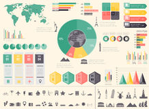 Travel and Tourism. Infographic set with charts and other elements. Vector. Illustration Stock Photography