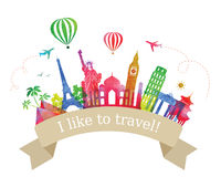 Travel and Tourism Label. Stock Photos