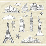 Travel and tourism labels collection. Stock Images