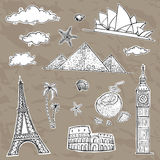 Travel and tourism labels collection. Royalty Free Stock Images
