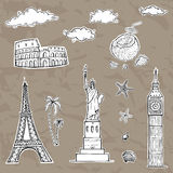 Travel and tourism labels collection. Royalty Free Stock Photos