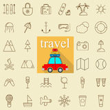 Travel and tourism line Icons set. Vector illustration. Stock Image