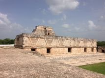 Uxmal, a Mayan archaeological site, in Yucatan, Mexico. Travel, tourism, maya, building, site, building, stone, ruins, ancient, culture, civilization stock image