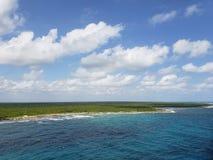 tropical landscape of Mayan Coast stock photos