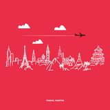 Travel and tourism poster Royalty Free Stock Images