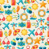 Travel and tourism seamless pattern.  Stock Image
