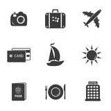 Travel and tourism set icons Stock Photography