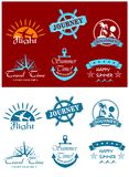 Travel and tourism symbols. With scripts for design Stock Photography