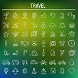 Travel and Tourism symbols.vector Royalty Free Stock Photos