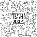 Travel Tourism Traditional Doodle Icons Sketch Hand Made Design Vector Royalty Free Stock Image