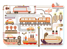 Travel, tourism, transport - vector illustration Royalty Free Stock Image