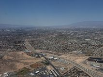 Aerial view of the surroundings of the city of Las Vegas, Nevada. Travel and tourism in the United States of America, style and design in construction and stock photo