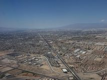 Aerial view of the surroundings of the city of Las Vegas, Nevada. Travel and tourism in the United States of America, style and design in construction and royalty free stock photo