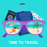 Travel, tourism and vacations concept, vector Royalty Free Stock Images