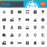 Travel and tourism vector icons set, modern solid symbol  Stock Photo