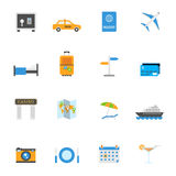 Travel and tourism vector icons Stock Photos