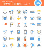 Travel, tourism and weather icons, set 2 Royalty Free Stock Photos