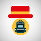 Travel tourist hat concept backpacker Royalty Free Stock Images