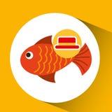 Travel tourist hat concept fish icon. Vector illustration eps 10 Stock Photos