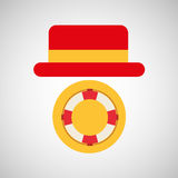 Travel tourist hat concept marine nautical symbol Royalty Free Stock Image