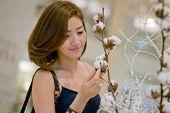 Travel tourist woman ,I feel like On a bright day, the Shopping Stock Photo