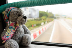 Travel toy bear Royalty Free Stock Image