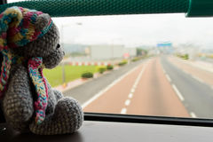 Travel toy bear Stock Photography