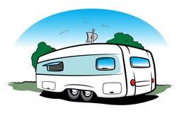 Travel trailer. Trailer for long travel with family vector illustration