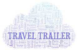 Travel Trailer word cloud. Wordcloud made with text only stock illustration