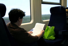 A travel with train Stock Image