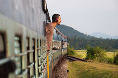 Travel by train in asia Royalty Free Stock Image