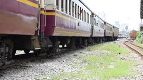 Travel by train. Bangkok, Thailand - October 18, 2015 : Unidentified people on the train. Many people in Thailand popular travel by train because it is cheaper stock video