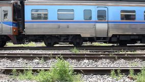Travel by train. Bangkok, Thailand - October 26, 2015 : Unidentified people on the train. Many people in Thailand popular travel by train because it is cheaper stock video